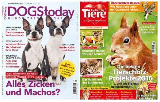 ANIMAL RELATED  - Dogs Today – September-Oktober 2016  - Ein Herz für Tiere – Oktober 2016