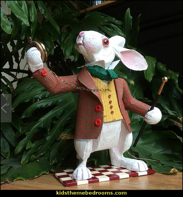 White Rabbit. This version with pocket watch and cane. Alice in Wonderland character