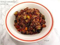 Verduras salteadas con Quinoa roja