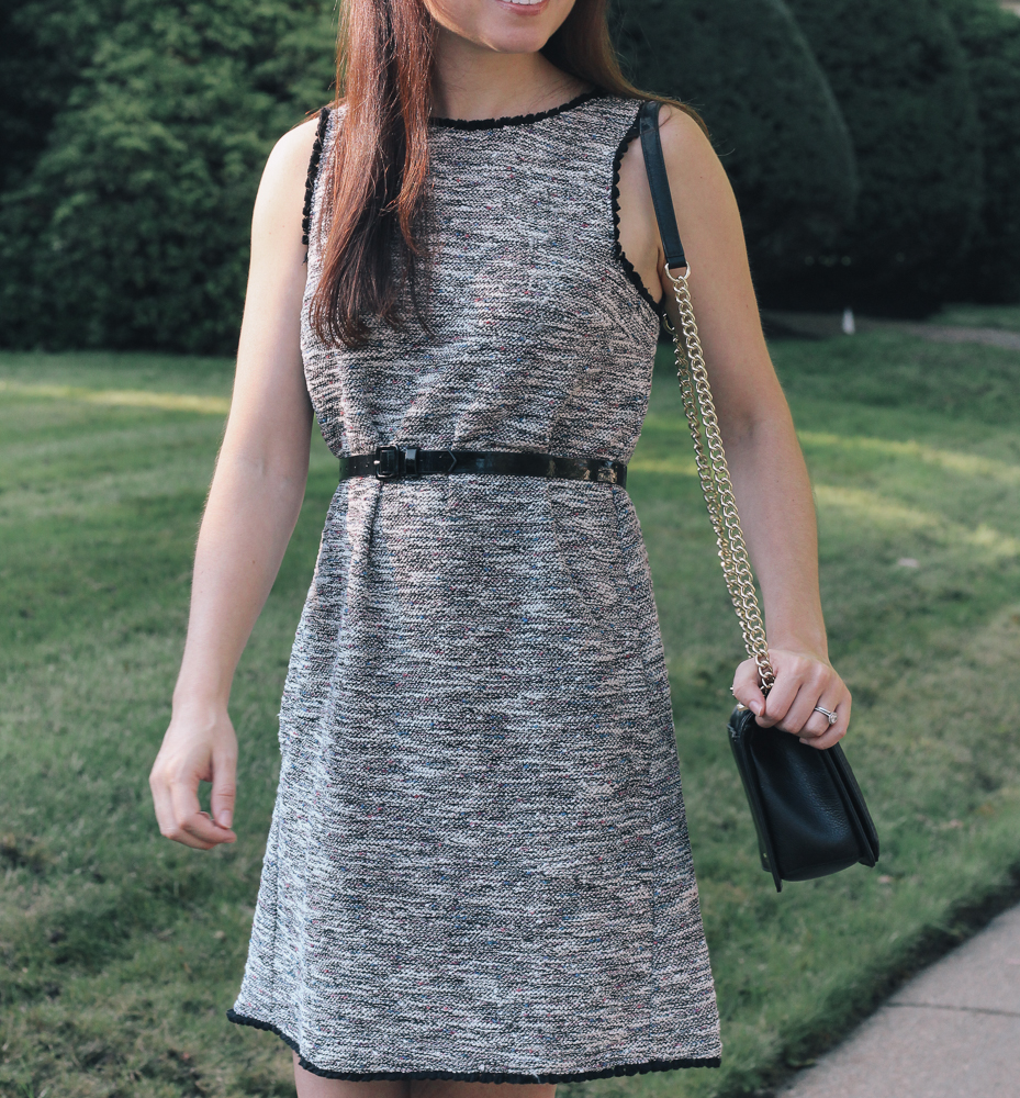 Boston Life & Style Blogger, The Northern Magnolia, is sharing her love for tweed in the fall along with her new favorite affordable tweed dress.