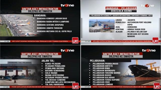 tvOne: Dulu Janjinya Baybuck Indosat, Tapi Sekarang Kok Malah Lepas Infrastuktur ke Swasta/Asing?