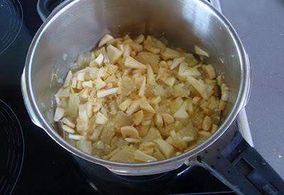 Mermelada de limón, manzana y plátano