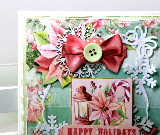 Happy Holidays Christmas Card by Ginny Nemchak Using BoBunny Carousel Christmas