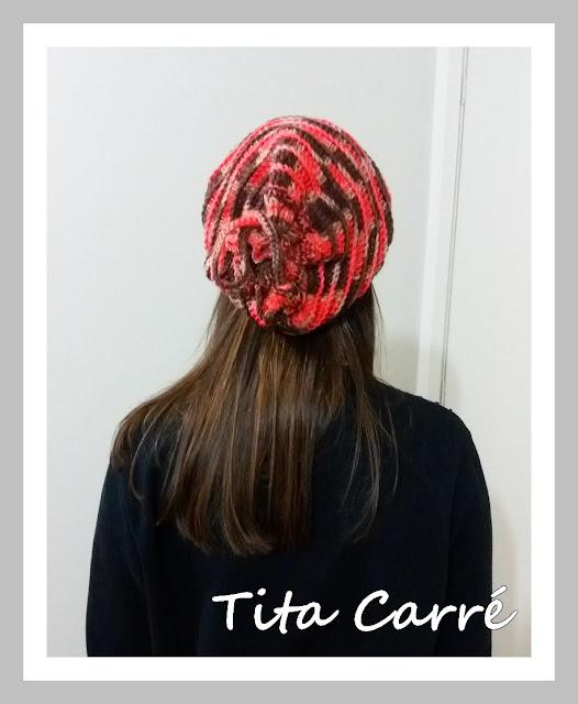 Gorro em Tricot e Crochet