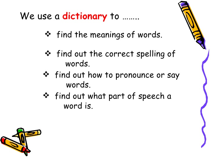 Fuentes' English Corner : Using A Dictionary