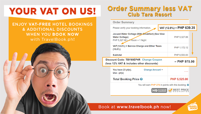 free vat using travelbook.ph