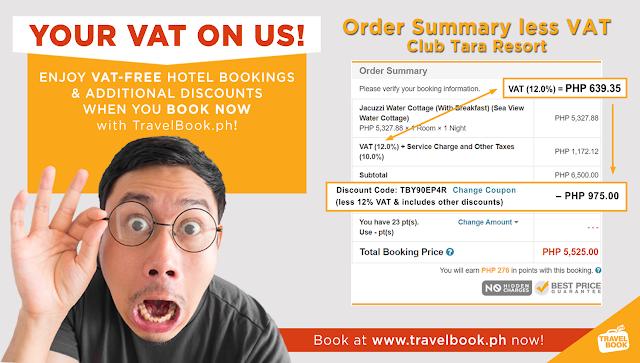 free vat using travelbook.ph