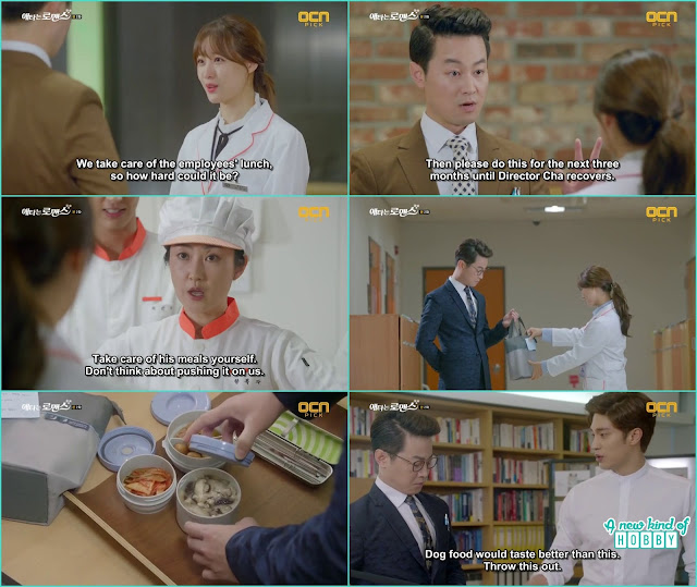 the sectary ask the nutritionist Yoo Mi to make healthy food for the ceo - My Secret Romance: Episode 2