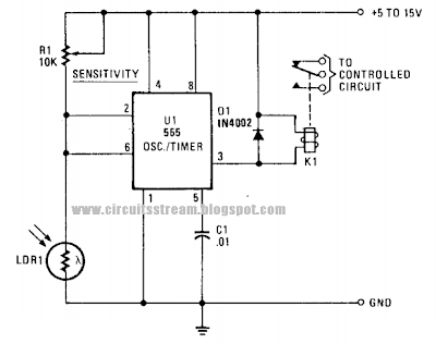Photo Alarm Circuit Diagram