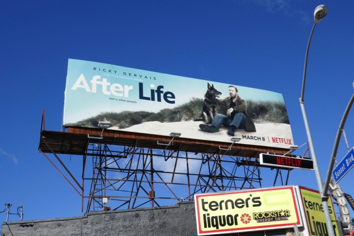 After Life series launch billboard