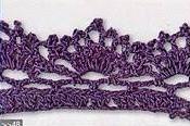 Patrón #1413: Puntilla a Crochet