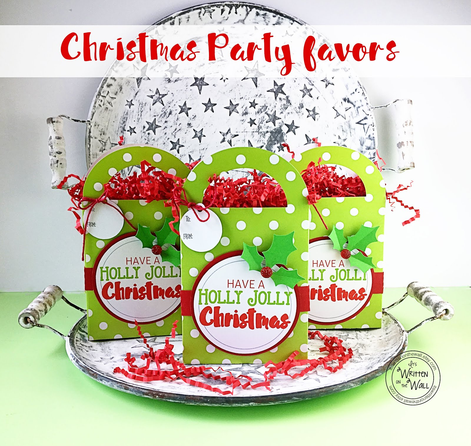 Holly Jolly Christmas Party Favors