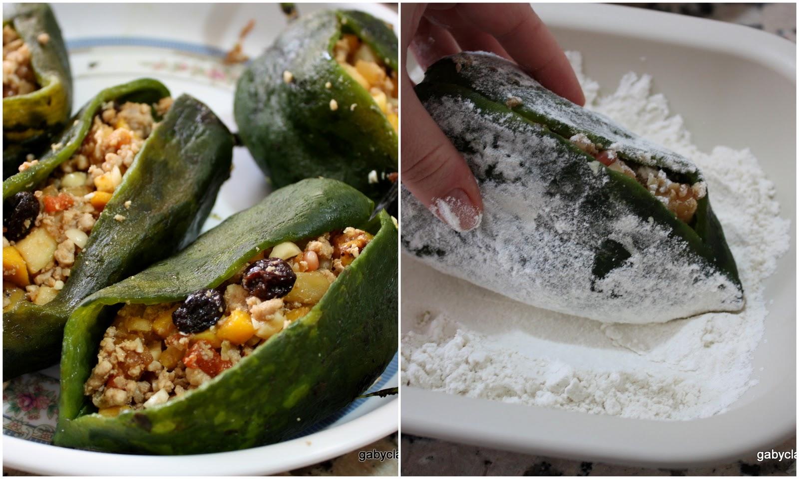 Chiles en Nogada step by step photo recipe