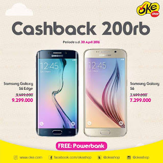 Cashback Samsung Galaxy S series dan Bonus Power Bank
