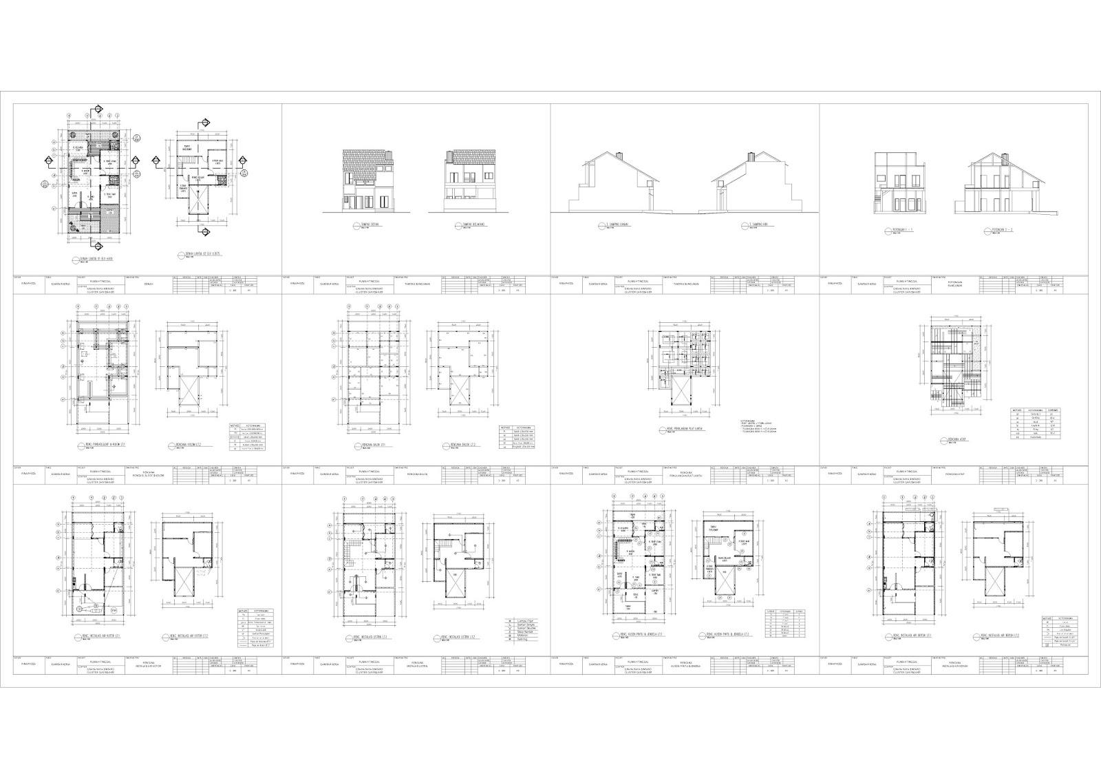 contoh gambar imb ijin mendirikan bangunan rumah tinggal