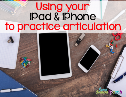 How to make your own articulation practice pictures using your iPhone or iPad