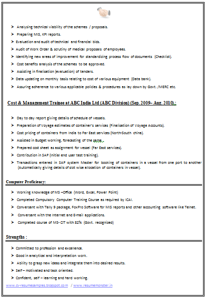 it resume sample 2014