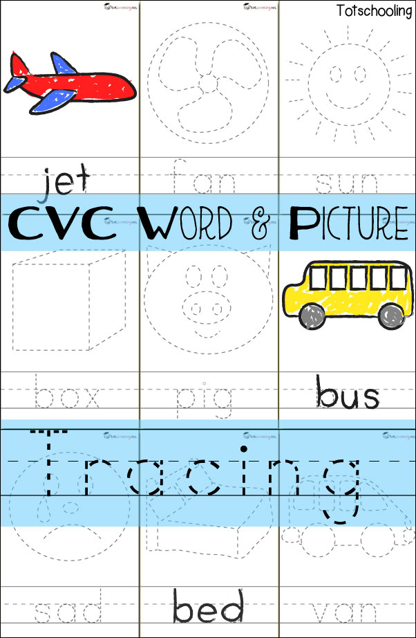 For More Handwriting Practice That Includes Reading And Tracing CVC Words See Our Word Picture Cards