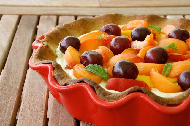 Tarta de fruites, llimona i mascarpone