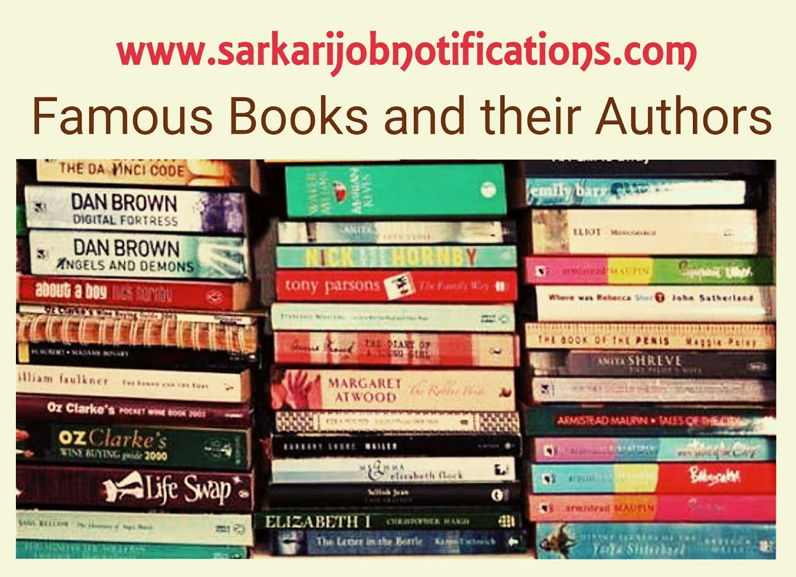 List Of Famous Books And Their Authors For Competitive Exams
