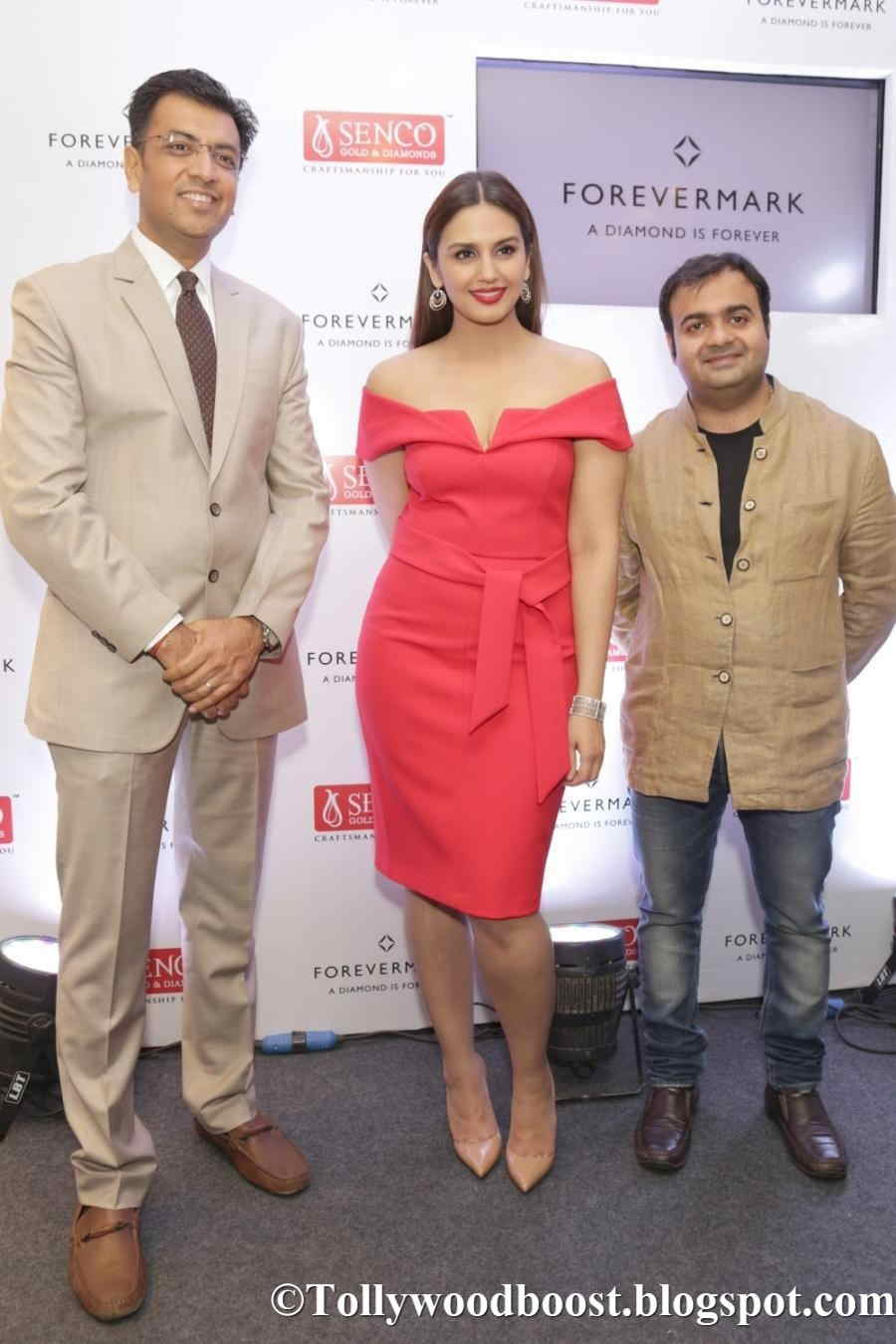 Indian Model Huma Qureshi Photo Shoot In Red Dress At Noida