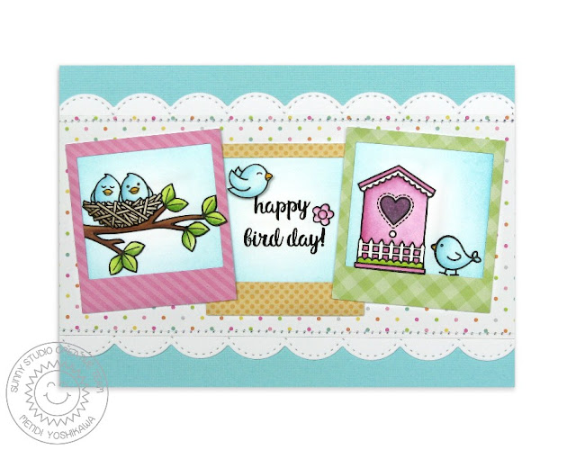 Sunny Studio Stamps A Bird's Life Happy Bird Day Birthday Card by Mendi Yoshikawa