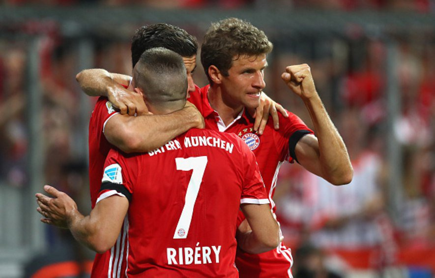 Polish forward Robert Lewandowski scored a hat trick on opening game vs. weder bremen