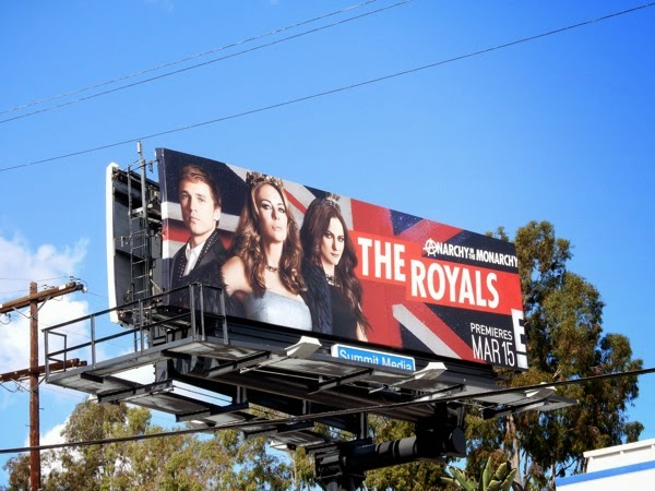 The Royals season 1 billboard