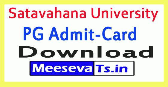 Satavahana University SU PG Exam Hall Tickets Download