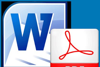 Tips Trik Convert File Microsoft Word ke PDF Online Gratis