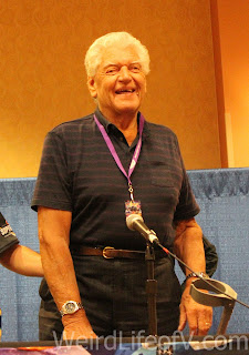 David Prowse at the Star Wars panel during SuperToyCon 2016