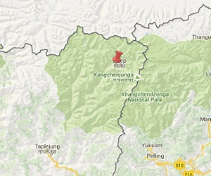 Earthquake epicenter google map of Taplejung, Nepal