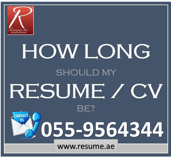 Resume.ae: How Long Should Your Resume Be? Follow Us At