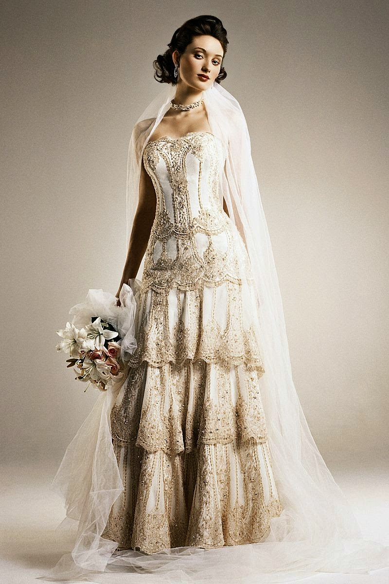 unique vintage wedding dress - Dress Yp