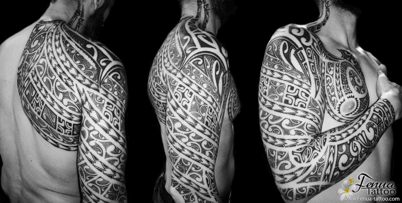 tatouage bras homme polynesien poisson