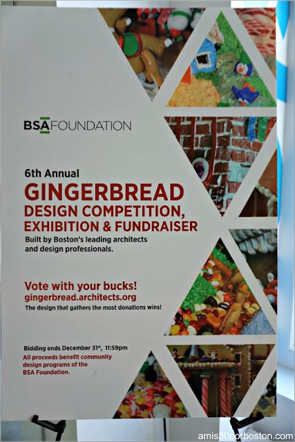 Cartel de la Competición Anual de Diseños de Casas de Jengibre en Boston 2017