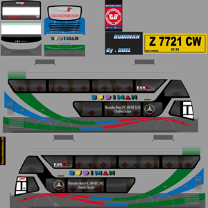 Livery Bussid Budiman SDD Bimasena Double Decker