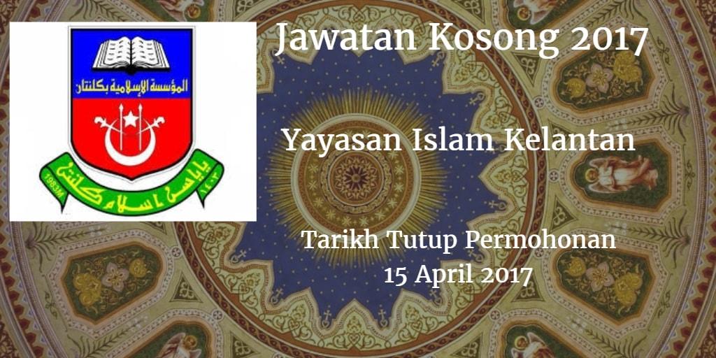 Jawatan Kosong YIK 15 April 2017