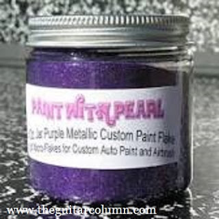 Metallic purple glitter paint flakes