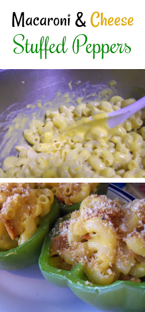 These easy macaroni and cheese stuffed peppers are a modern take on a classic dish. The kids love this recipe!