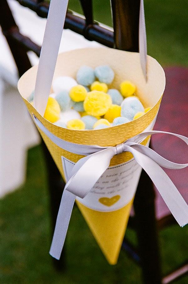 Ideias criativas casamento - cone de pétala, cone de arroz