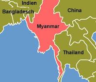 Karte Myanmar