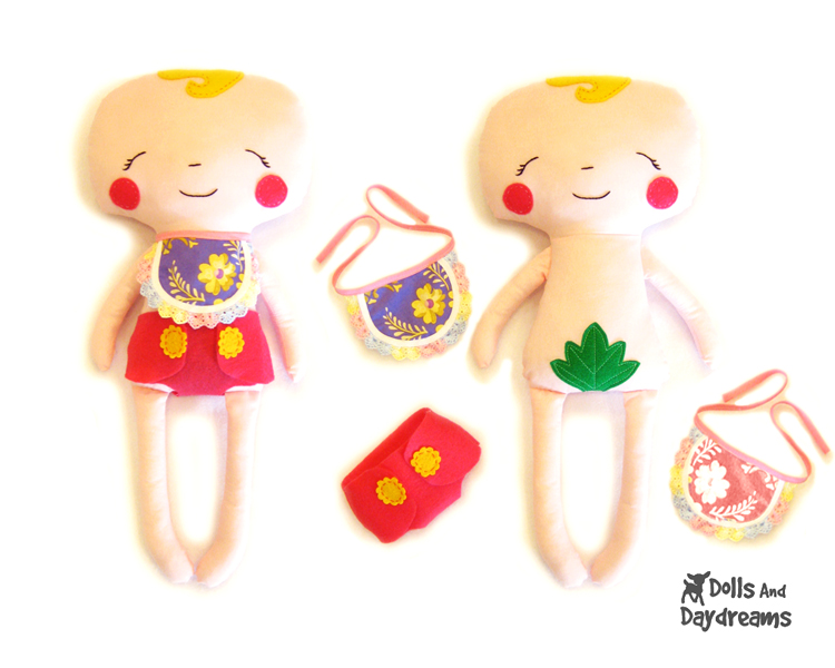 Dolls And Daydreams - Doll And Softie PDF Sewing Patterns: Baby Doll ...