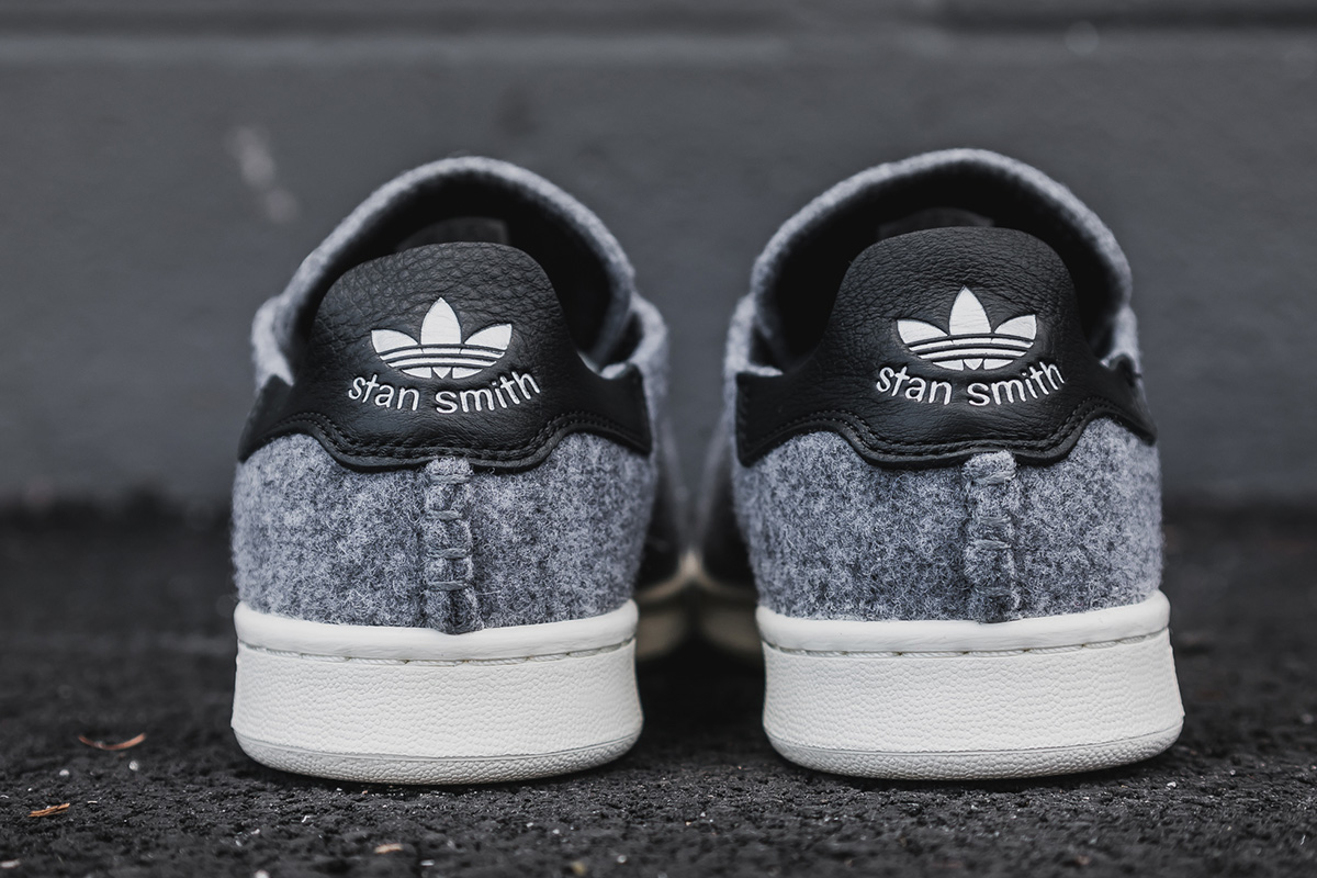 big sale 3d60a 9f98c adidas Originals has added a dose of warmth to the Stan Smith for winter  2016 with a wool construction. The drop sees the sneaker layered in a wool  build in ...