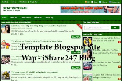 Template Blogspot làm trang wap đẹp