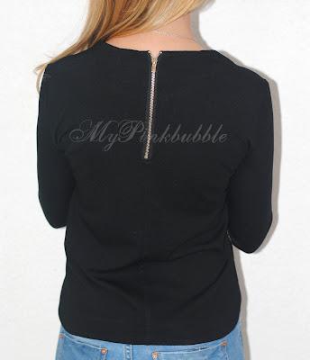 camiseta negra cremallera