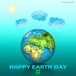 Happy Earth Day 22 April 2019 Greetings - Save Mother Earth.