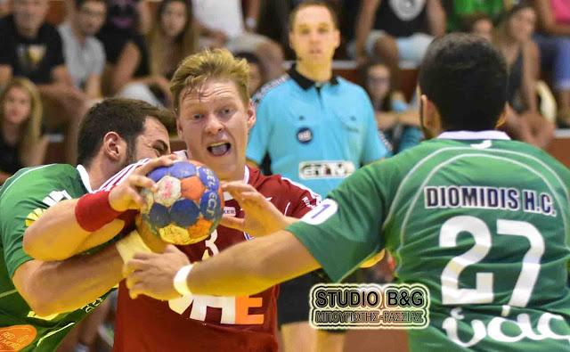 33 - 26 έχασε στον πρώτο αγώνα του EHF Cup ο Διομήδης από την Ισλανδική Haukar