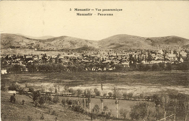Panorama of Bitola from Tumbe Cafe in 1917.