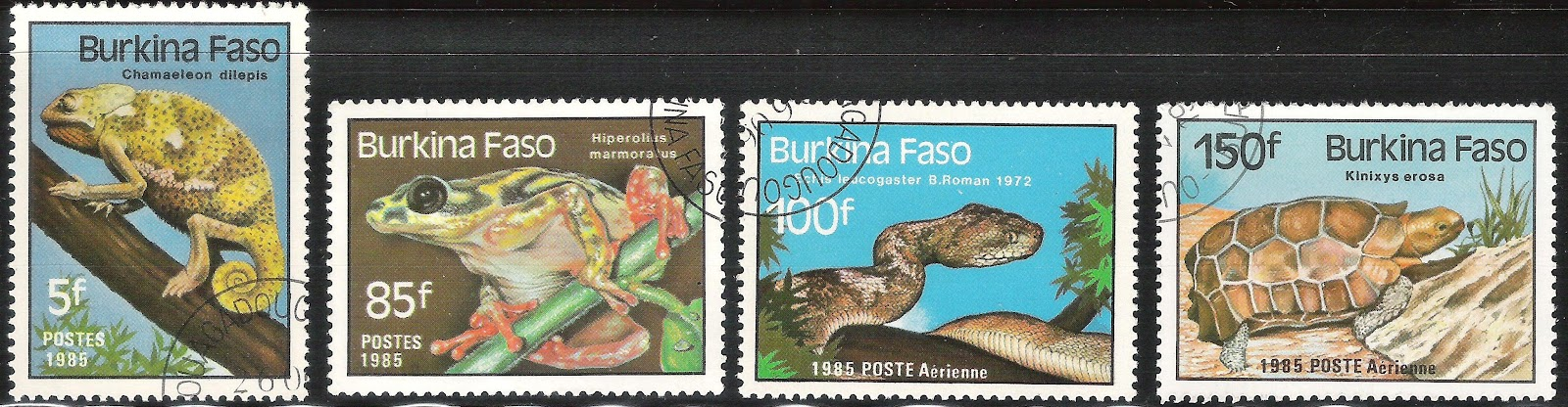 My Postage Stamps Collection Burkina Faso Pt 1